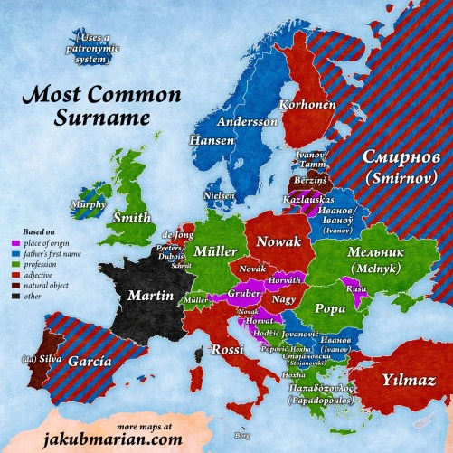 common European surname