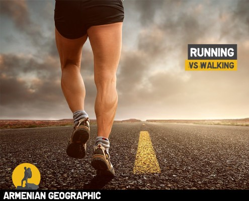 Running vs walking