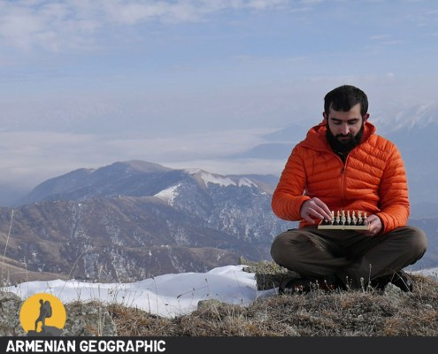 Chess in the mountains of Armenia