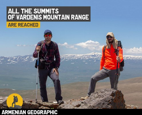 All the Summits of Vardenis Mountain Range