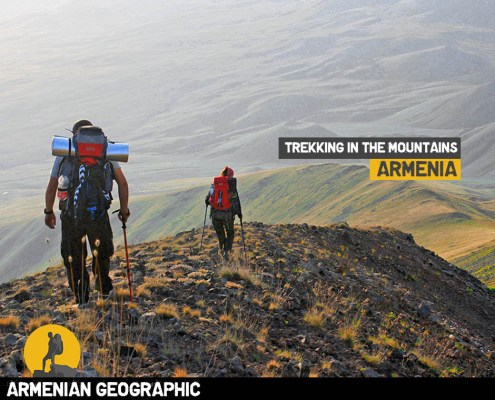 Trekking in the mountains of Armenia
