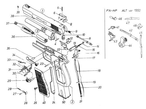 FN HP-35 Esploso