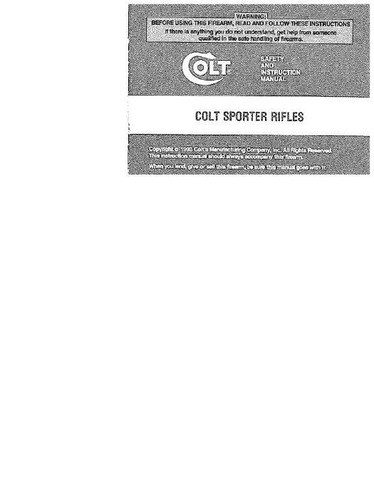 Colt AR-15 Sporter