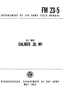 US Rifle Caliber .30 M1