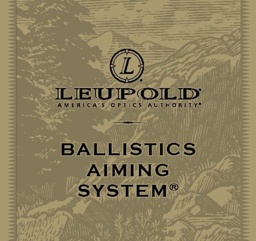 Leupold ballistic aiming system