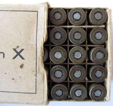 Munizione cal 7,65 Browning specifica per l'uso dei silenziatori.