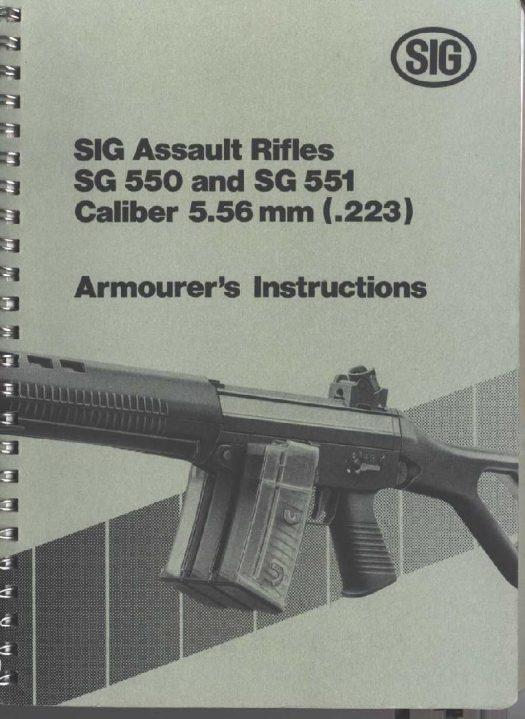 SIG 500 551 armorers manual