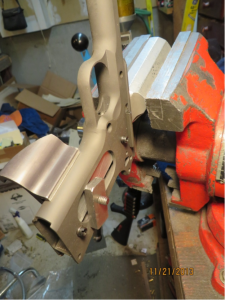 Frontstrap Frame Clamped