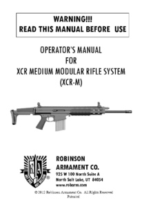 Robinson Armaments XCr 308 winchester