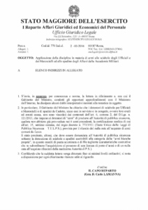 Circolare 770 dell 02 marzo 2016 - Stato Maggiore Esercito Armi - Applicazione della disciplina in materia di armi alle sciabole degli Ufficiali e dei Marescialli ed allo spadino degli Allievi delle Accademie Militari