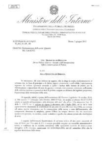 Quesito N.557/PAS-50.0121/Q12 del 5 giugno 2012 - Rottamazione armi