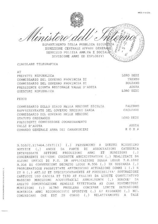 Circolare 559/C.117464.101711(1) Del 5 ottobre 1992