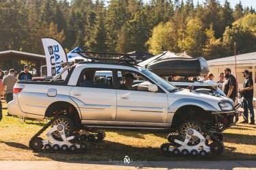 Subaru Baja on Treads
