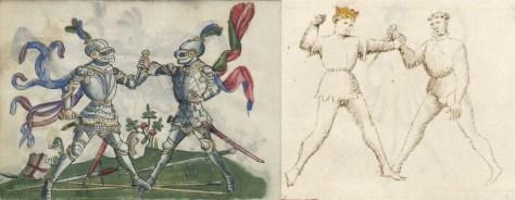 Gladiatoria's first dagger technique, corresponding to Fiore's Primo Remedio di Daga (First Dagger Remedy)