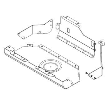 Aluminum & Steel Gas Tank Skid Plate, TJ/LJ