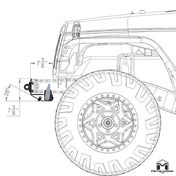 Frame-Built Jeep Bumper #1402, JK Wrangler