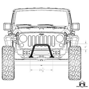 Frame-Built Jeep Bumper #1401, JK Wrangler