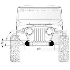 Frame-Built Jeep Bumper #221012, CJ