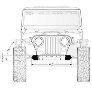 Frame-Built Jeep Bumper #230100, CJ