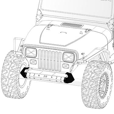 Frame-Built Jeep Bumper #231002, YJ