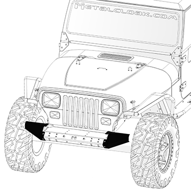 Frame-Built Jeep Bumper #211001, YJ