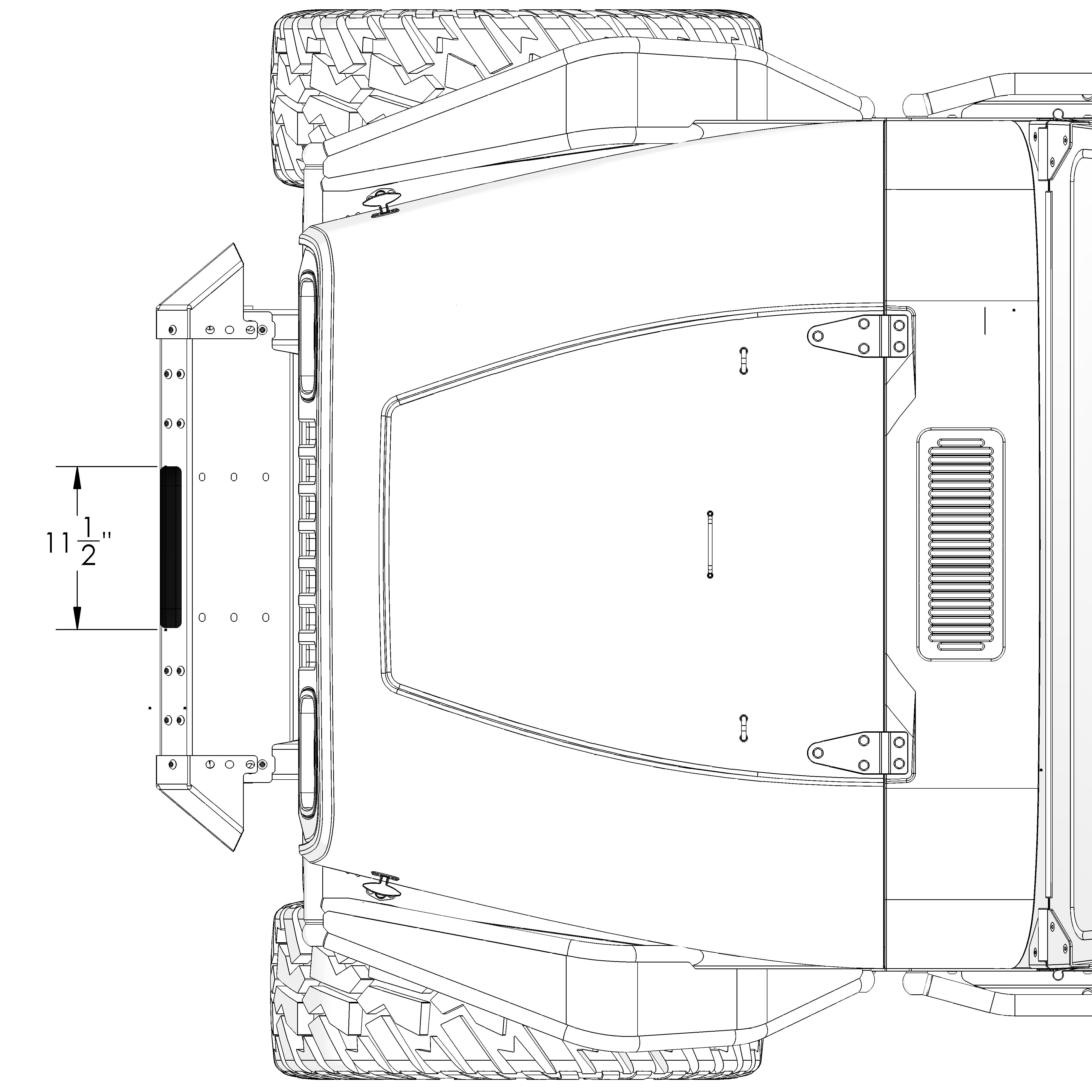 Frame-Built Jeep Bumper #331001, YJ