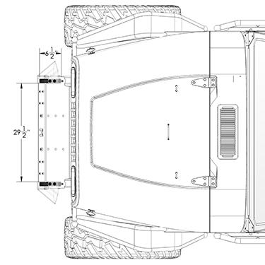 Frame-Built Jeep Bumper #211006, YJ