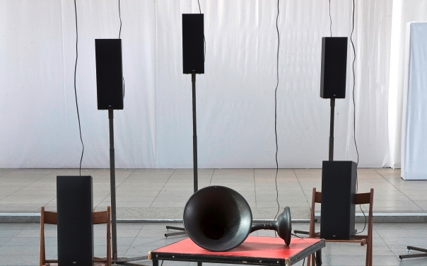 Photo from Janet Cardiff & George Bures Miller: THE MURDER OF CROWS on August 3, 2012