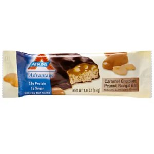 16c9ca177b83 Atkins Advantage Bar Caramel Chocolate Peanut Nougat Nutrition snack Bar