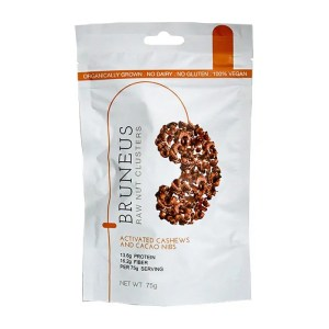 Bruneus Snack Clusters Activated Cashew and Cacao Nibs