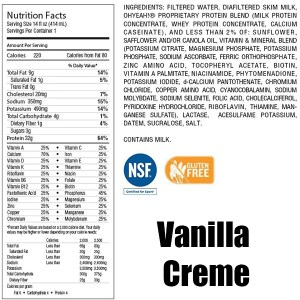 OhYeah RTD Nutritional Shakes 414ml Vanilla Creme Nutrition Facts ArmourUP Asia Singapore