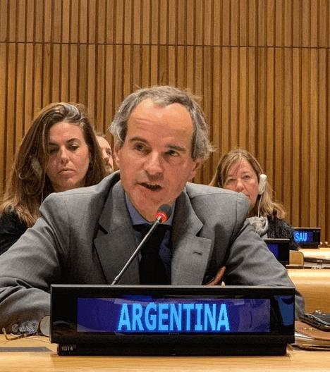 2020 Review Conference President-Designate Rafael                   Grossi addresses the conclusion of the 2019 NPT                   PrepCom.