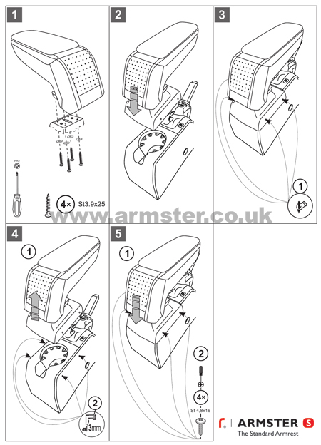 Vauxhall / Opel Astra H 2004-2010 Armster S Armrest