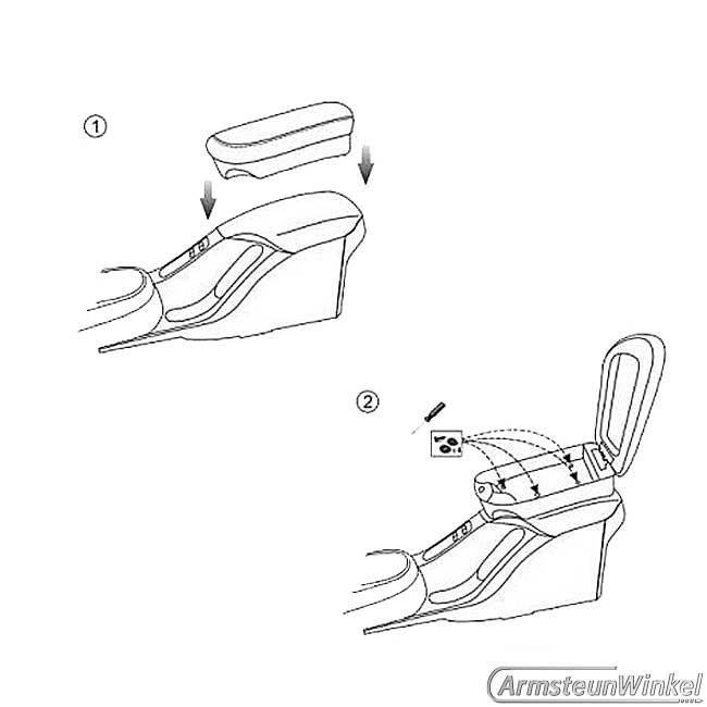 Armsteunverhoging Slider zwart Seat Altea 3.2004- Altea XL