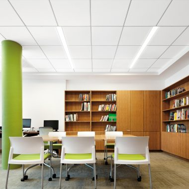 Acoustical On Center Linear Lighting