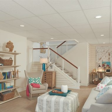 Drop Ceiling Installation Ceilings Armstrong Residential | False Ceiling On Stairs | Residential | Pvc Panel Ceiling | Kitchen | Traditional | Living Room Hardiflex Ceiling