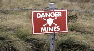 landmine warning