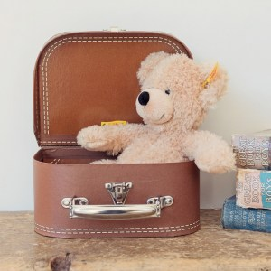 Classic Teddy Bear in Suitcase