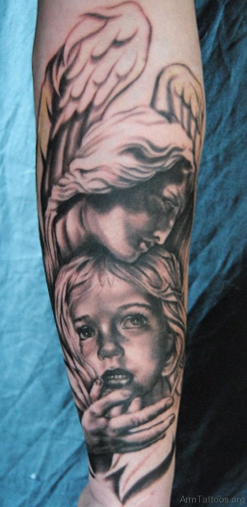 Angel Portrait Tattoo Designs
