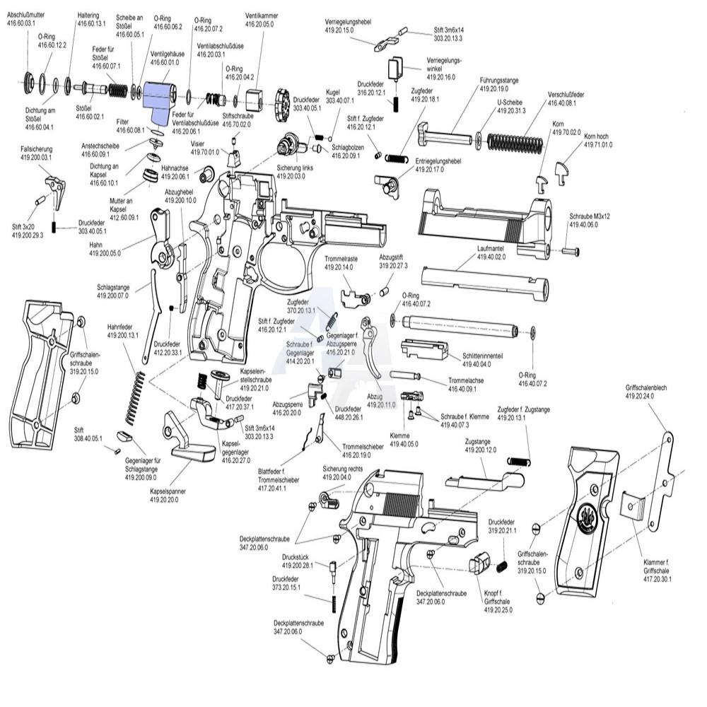 Valve complète pour Beretta M92 FS et CP88 Umarex