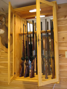 Armoire Fusils En Bois Massif