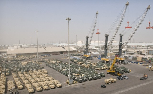 The port of Shuaiba, Kuwait. (Photo Credit: Spc. Monte Swift, US Army)