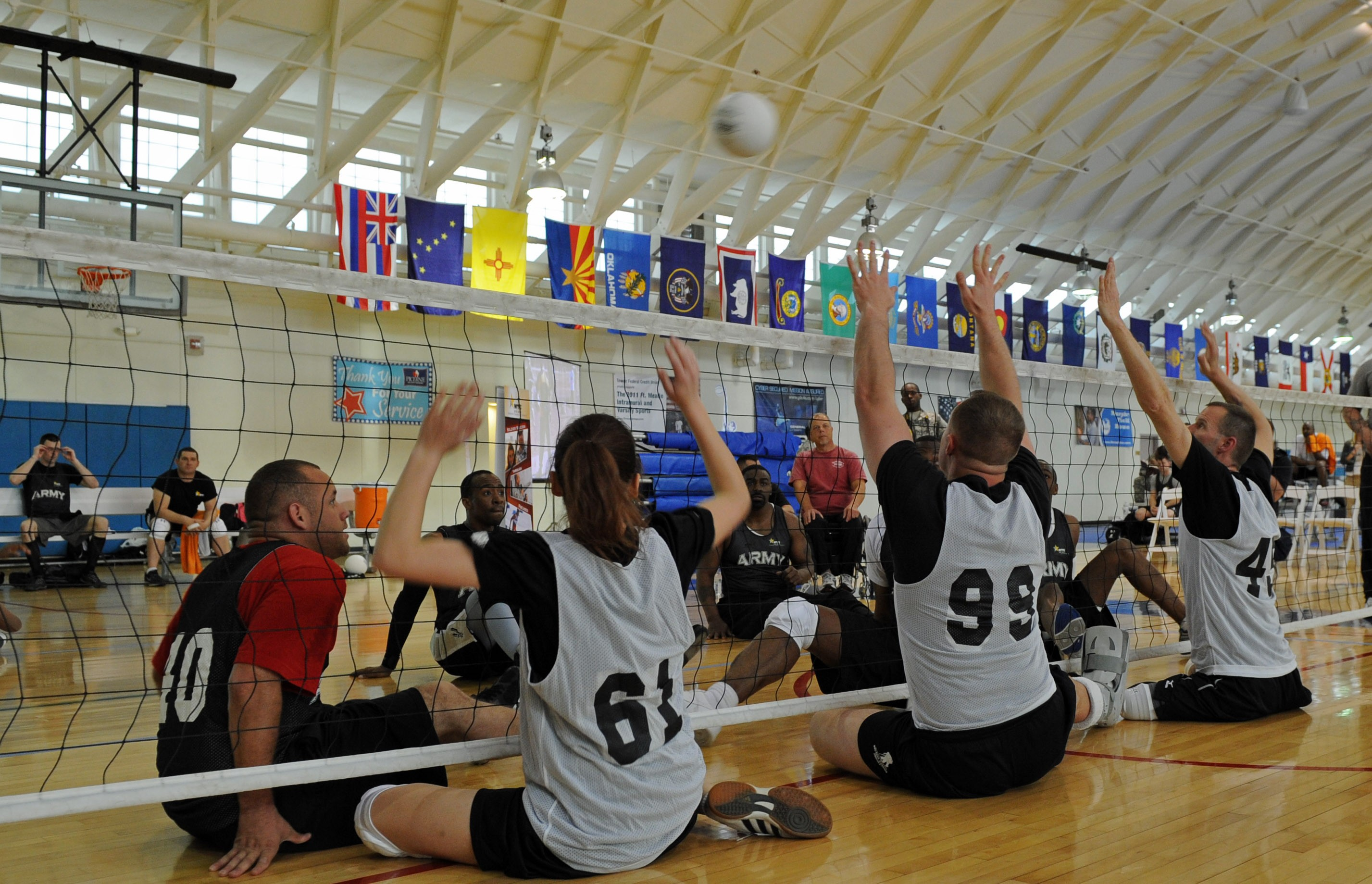 wheelchair volleyball picture frame moulding under chair rail army players on road to warrior games article the original