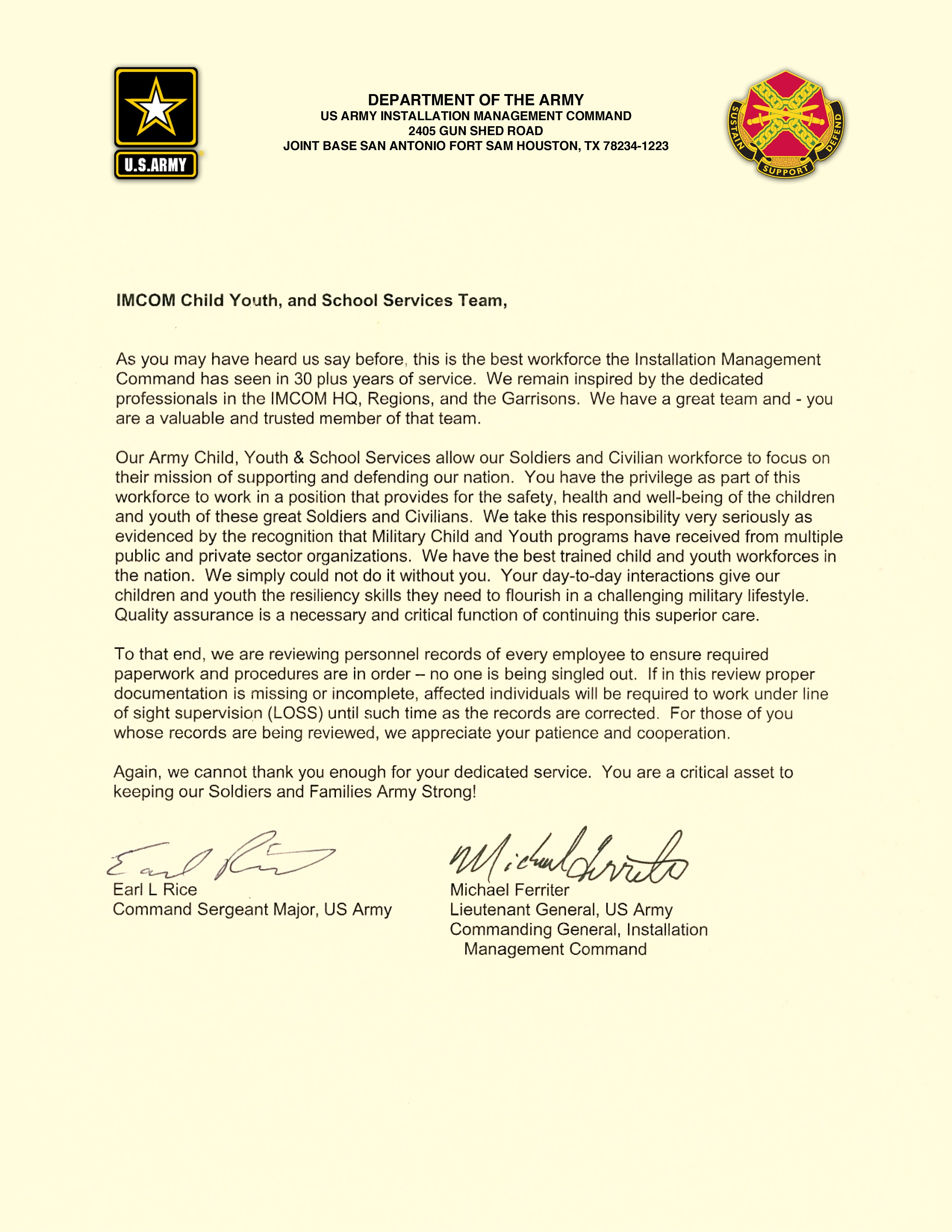 Intent To Reenlist Letter Example