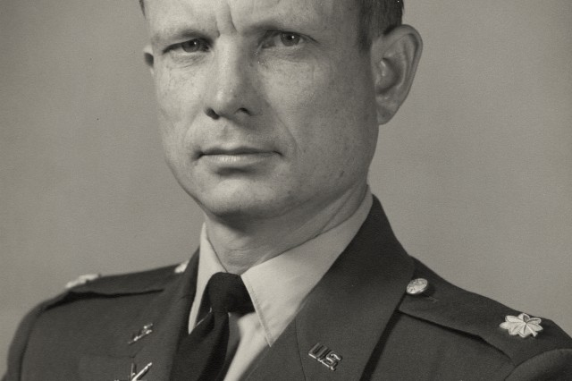 U.S. Army Maj. Charles Kettles between tours of duty to Vietnam, Fort Sam Houston, San Antonio, Texas, 1968.
