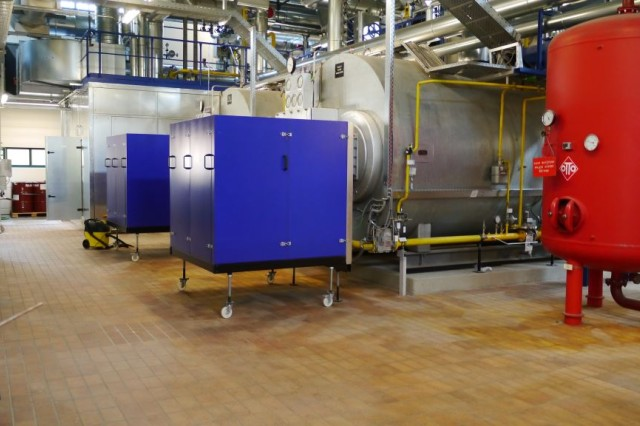 A cogeneration heat and power plant was installed at Camp Nainhof, Hohenfels Training Area. It will save about 1,300 tons of greenhouse gas emissions and $900,000 in energy costs per year.