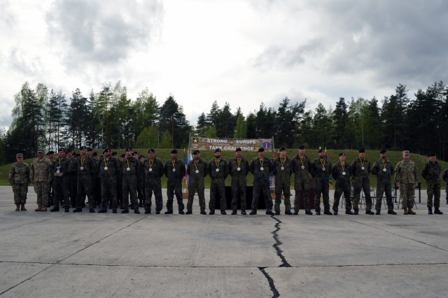 The German platoon took top second in the second annual Strong Europe Tank Challenge, May 12, 2017.