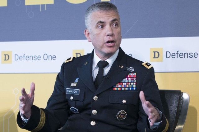 Lt. Gen. Paul Nakasone, head of Army Cyber Command, discusses the new methods the Army is using to attract web-savvy professionals to fill needed positions. Nakasone participated in a live panel event and fielded questions from the public at the 2017 Defense One Tech Summit at the Newseum on Thursday, July 13.
