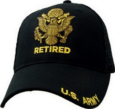 sport folding chairs chair cover hire east sussex cap - u.s. army retired (black mesh): navy shop