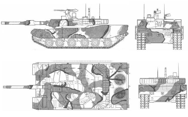 K1A1 main battle tank technical data sheet pictures video